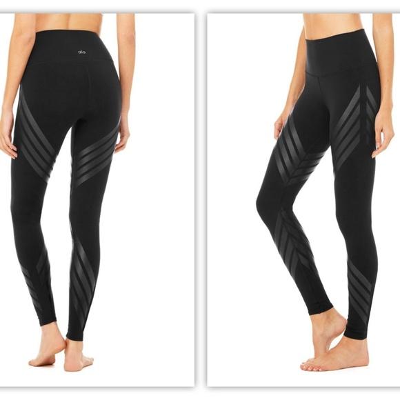 96f1b1e9ca ALO Yoga Pants | Striped Airbrush Leggings Nwt | Poshmark